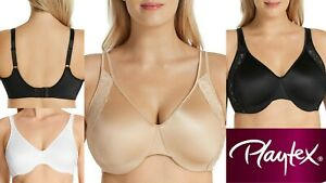Playtex Smoothing Minimising Bras Side Support Wire 12 14 16 18 20 22 C D DD E F