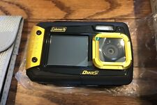 Coleman Duo2 20 MP Waterproof Digital Camera with Dual LCD Screen (Yellow) NEW