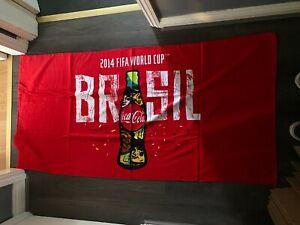 Fifa 2014 - Brasil - Coca Cola Red Beach Towel Football Holiday - NEW SEALED