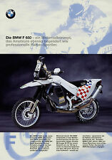Prospekt Schalber-BMW F 650 Werksteam 1998 4/98 Orioli Brucy Gallardo Mayer