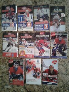 Lot of 10 Montreal Canadiens Hockey Pocket Schedules (1990's - 2000's)
