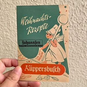Vintage Werbung ALT 1960er Plätzchen Weihnacht Rezepte-Heft KÜPPERSBUSCH A6 Kiel