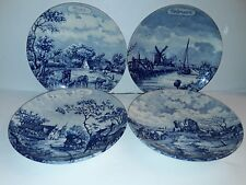 """HOLLAND DELFT BLUE """"ANNO 1661"""" 4 SERIES PLATES OF THE MONTHS 9.5"""" NEW"""