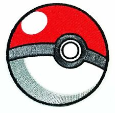 """Pokeball Embroidered Sew/Iron-on Patch 3"""" InspireMe Family Owned Pokemon"""