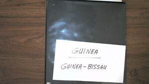 GUINEA COLLECTION IN ALBUM, MINT/USED