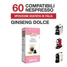 60 Capsule Cialde Caffè al Ginseng Dolce Italian Coffee compatibili Nespresso