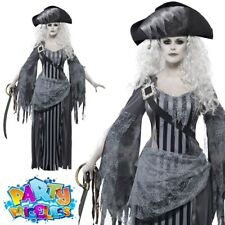 Ladies Halloween Fancy Dress Ghost Ship Princess Costume by Smiffys M 12-14