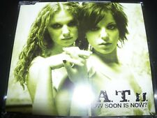 T.A.T.U Tatu How Soon Is Now Australian 4 Track CD Single with T-shirt Transfer