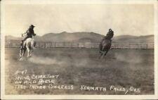 Klamath Falls OR Cowboy Rodeo 1929 Indian Congress Real Photo Postcard #3