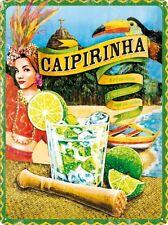 Targa in Latta Vintage Caipirinha 30x40 in metallo stampato