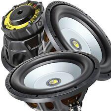 Pair of Gravity 12 Inch 2400 Watt Car Audio Subwoofer w/ 4 Ohm Power (2 Woofers)