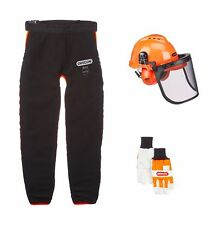 Chainsaw Safety Clothing Kit with Oregon Type A Universal Leggings, Helmet, gl