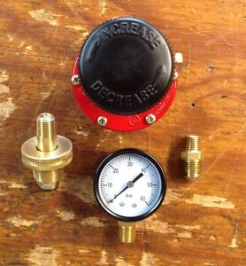 Propane HP  Adjustable Regulator 0-60 Psi Kit with P.O.L. Handwheel Fitting