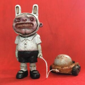 MALЬЧИK-ZAЙЧИK + LУNOХOД-1 - creepy sovietwave darkart - limited Plastic Art Toy