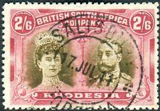 RHODESIA-1910-13 2/6 Sepia & Deep Crimson.  A fine used example Sg 156