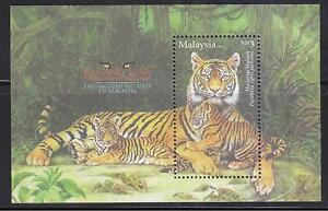 MALAYSIA 2013 ENDANGERED BIG CATS OF MALAYSIA (MALAYA TIGER) SHEET 1 STAMP MINT