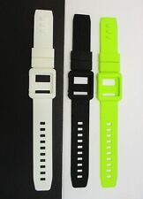 Lot 3x Silicone Watch Band White/Black/Green Wrist Strap Skin Cover iPod Nano 6