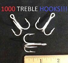 1000 Eagle Claw 2/0 Round-Bend 3x Seaguard Treble Hooks (937M-2/0) EB100402