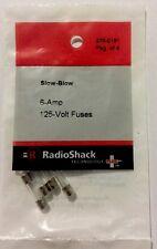 RADIOSHACK 6-AMP 125V 5X20MM SLOW-BLOW FUSE (4-PACK) #270-0151