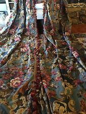 Custom Toile Drapes Curtains Panels French Country Floral & Scroll Broadcloth