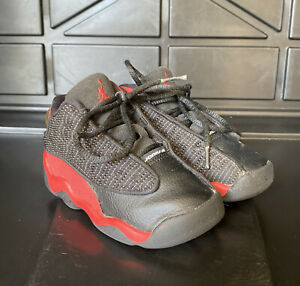 Nike Air Jordan 13 Retro TD Bred 2017 Toddler Size 7C 414581 004 Used Very Clean