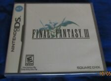 DS - Final Fantasy III 3 ~ Brand New Factory Sealed ORIGINAL Black-label Game ~