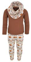 Girls Boutique Thanksgiving Tribal Turkey Legging Set Outfit 2t 3t 4t 5 6 7 8