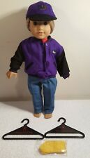 American Girl Retired Purple Varsity Jacket Hat Cap Blue Jean & more Outfit Set