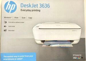 HP Deskjet 3636 All-in-One Inkjet Printer  BRAND NEW IN BOX