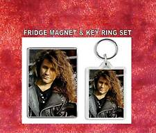 Jon Bon Jovi Key Ring & Fridge Magnet Set