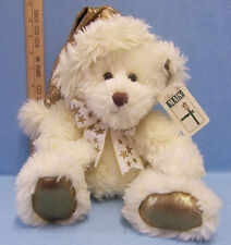 Plush Teddy Bear Stuffed Animal Cream Gold Stars First & Main Inc Made In China