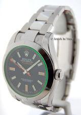 Rolex NEW Milgauss Steel Green Crystal Mens Watch Box/Papers 116400