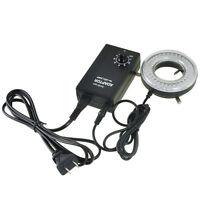 AmScope LED-64-ZK 64-LED Microscope LED Ring Light with Adapter