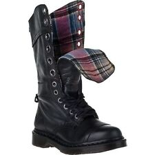Dr. Martens Women`s Triumph 1914 W Black Boot Plaid Lining US 9 EU 41 UK 7 LAST!