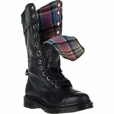 Dr. Martens Women`s Triumph 1914 W Boot Black Plaid US 8 EU 39 UK 6 LAST!!