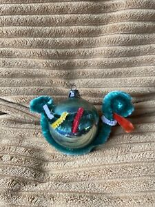 Vintage Kitsch Duck Pipe Cleaner Christams Glass Bauble