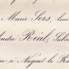 Marie Sers Paris Saint-Thomas d'Aquin 1876 André Real