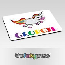 Personalizzato Unicorno Tovaglietta Carina Arcobaleno Add Qualsiasi Nome Gratis
