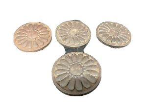 Victorian Medallion Trim Rosettes Buttons Not Wood 3 1/2 Width
