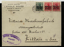 Belgium,   Germany occup stamps  on  cover   1916       MS0221