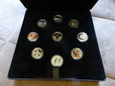 2010 - Vancouver Olympic Games Gold Coin Set of 9 Coins - $75 Coins - 14K Gold
