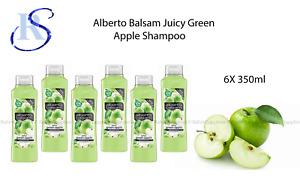 6 x Alberto Balsam Juicy Green Apple Shampoo 350ml