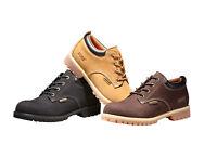 Men's Low Cut Work Boots Short Genuine Leather Water Resistant Heavy Duty 8651