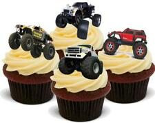 Monster Truck Mix Stand Up Premium Card Cake Toppers