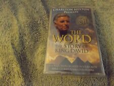 Cassette Tape Charlton Heston Presents The Word The Story Of King David Sealed