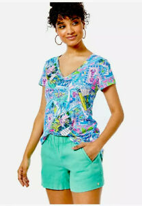 Lilly Pulitzer NWT Lilo Shorts Gustavia Green Size XS