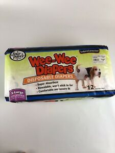NEW Four Paws Wee-Wee Diapers Disposable Diapers Leakproof Protection Dogs Sz XL