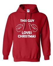 HOODIE This Guy Loves Chrismas SANTA CLAUS XMAS CHRISTMAS Holiday HOODIE