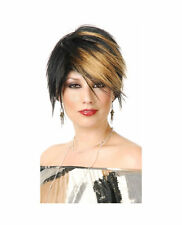 Women's Blonde Scene Queen Costume Wig Short Jagged Straight Part Bleached