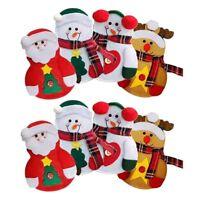 8pcs Cutlery Holder Snowman / Santa Clause / Elk Christmas Cutlery Holder Poc YG
